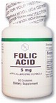 Folic Acid 5mg. 50 capsules